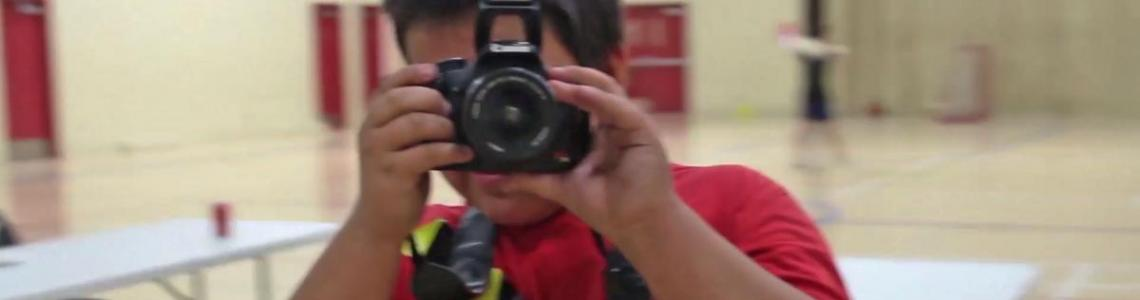 Tsawout First Nation youth videographer