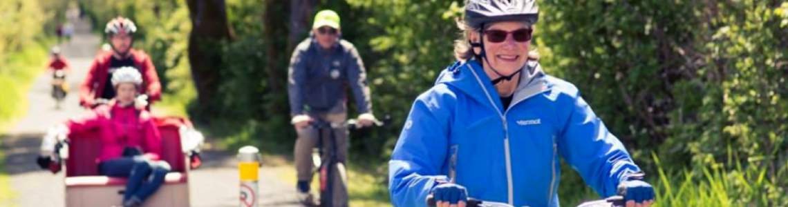 Trishaw bicyle on the Lochside Trail, Victoria BC