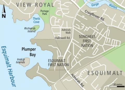 Quimper at Esquimalt Harbour Victoria and Region Community Green Map