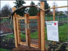 Banfield Community Orchard gate