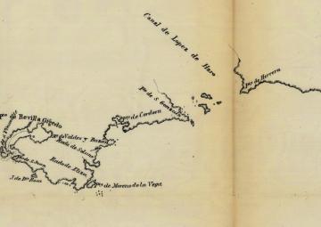 Plano del Estrecho de Fuca 1790