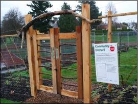 Banfield Community Orchard gate